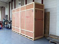 Export crate for aeronautical parts for the USA