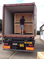 Crate packed and ready to be shipped or taken back to the customer