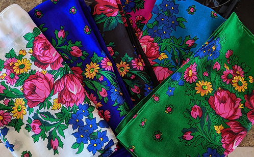 Colorful Flower Scarf