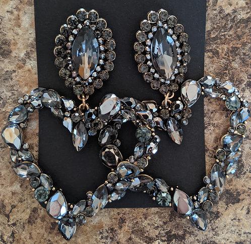 Gray HeavyHeart Earrings