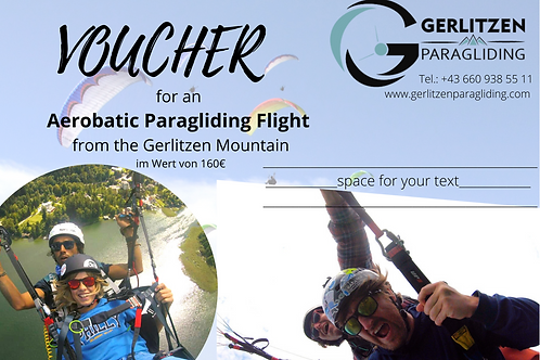 VOUCHER / GUTSCHEIN - AEROBATIC FLIGHT