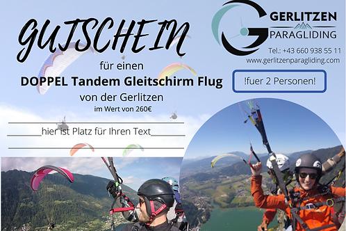 VOUCHER - Double Tandem Flight / GUTSCHEIN Doppel Flug
