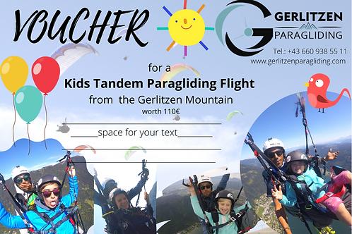 VOUCHER - KIDS Flight / GUTSCHEIN Kinder Flug