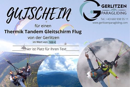 VOUCHER - Thermal Flight / GUTSCHEIN - Thermik Flug