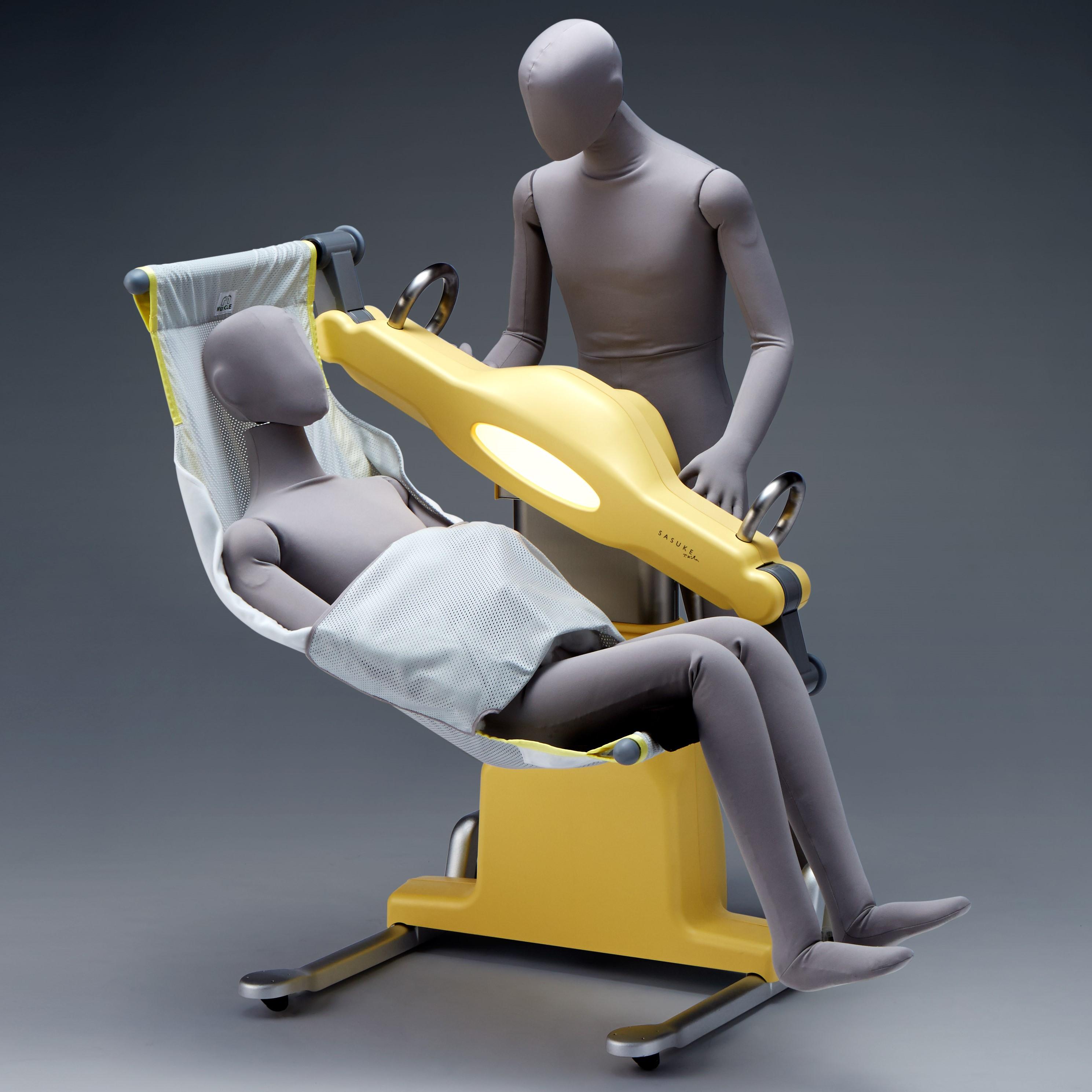 車いすに適した姿勢に
