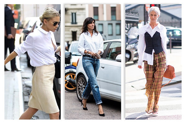 how to wear white shirts