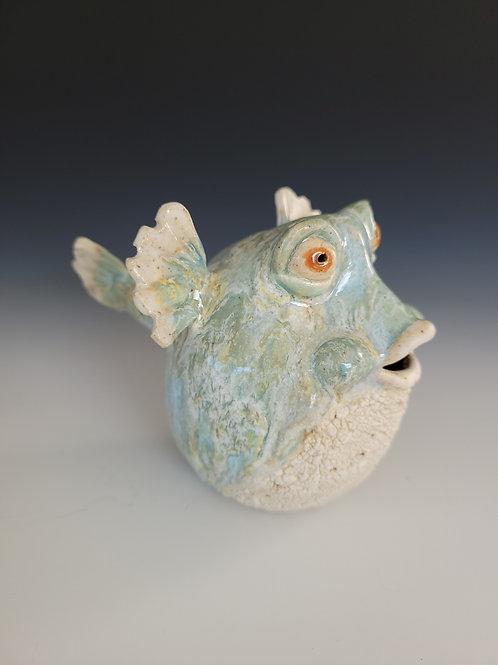 """Hand Sculpted Pufferfish """"Ginseng"""""""