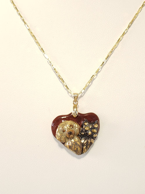Dog And Cat Heart Pendant