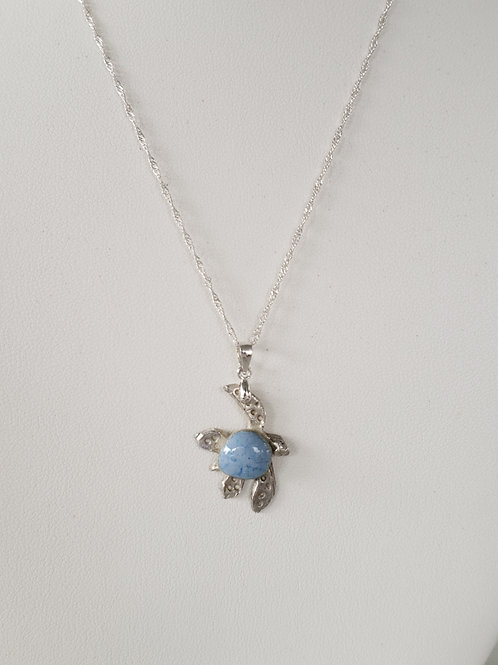 Blue Sea Turtle Pendant