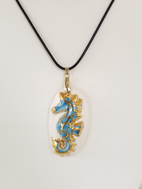 Seahorse Medallion Bright Blue