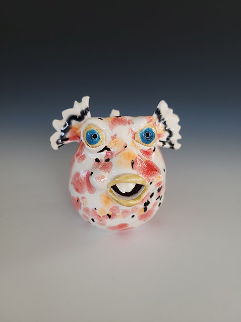 "Hand Sculpted Pufferfish ""Poppy"""