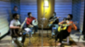 Sound Expeditions. India, Chennai. Recording a fascinating fusion of Indian and South American music in a studio in Chennai, Southern India.