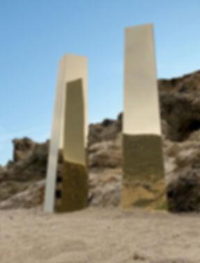 golden mirror columns wedding mykonos