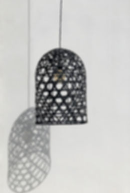 Our black bamboo lampshades are a simple way of updating your scheme.