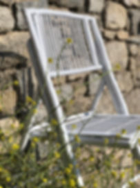 The bamboo folding chair is a fan favourite of Mykonos wedding planners and event designers.