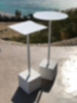 metal stools for events and weddings