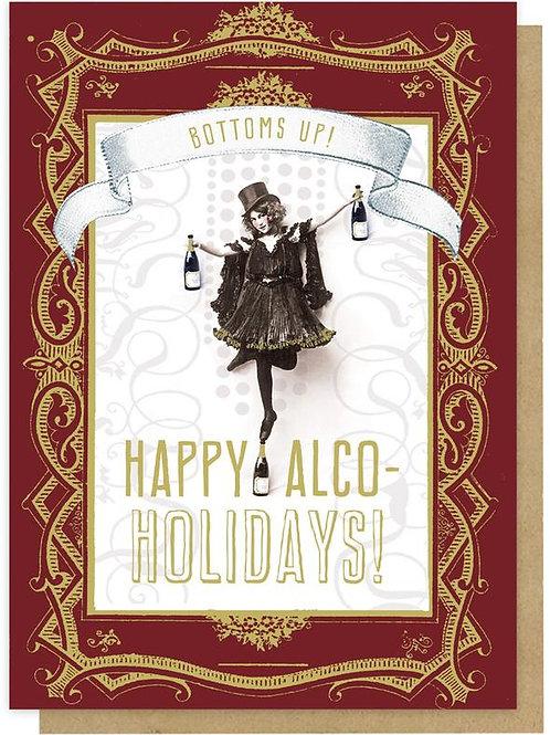 Greeting Card - Happy Alco-Holidays 5x7
