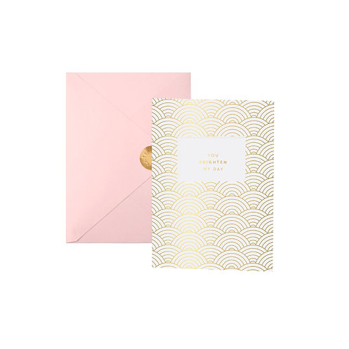 Katie Loxton Greeting Card - You Brighten My Day