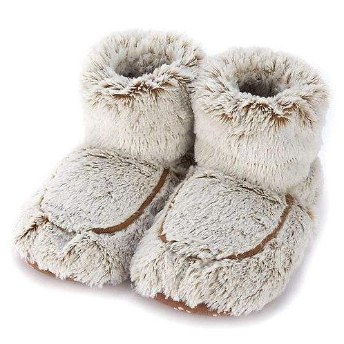 Warmies - Marshmallow Brown Booties