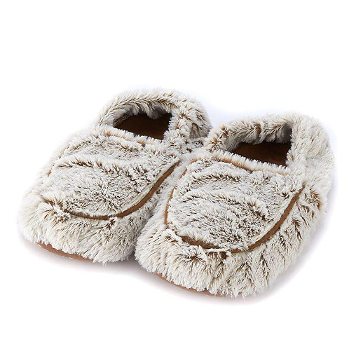 Warmies -  Marshmallow Brown Slippers
