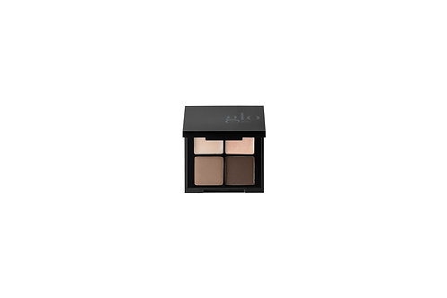 glo Mineral Makeup Brow Quad - Brown