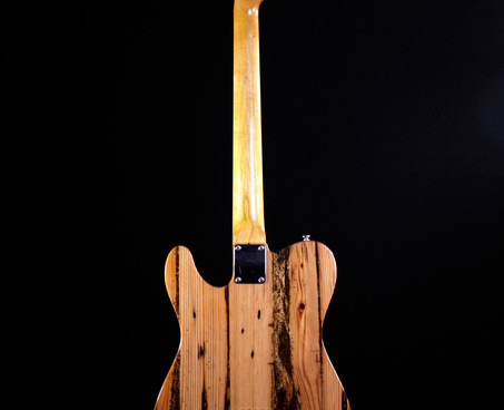 Telecaster rear view Pine body