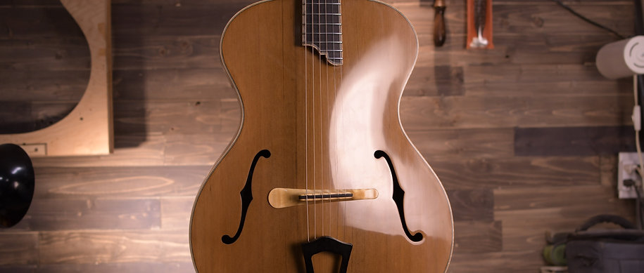 "Madagascar Rosewood Deluxe Concerto Signature 15"" Acoustic Archtop"