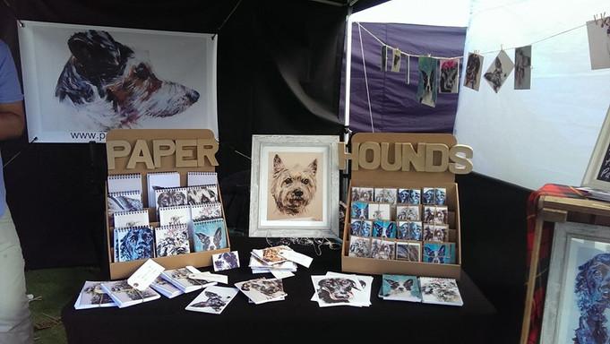 Dog photo booth @ the Lonach Highland Games!