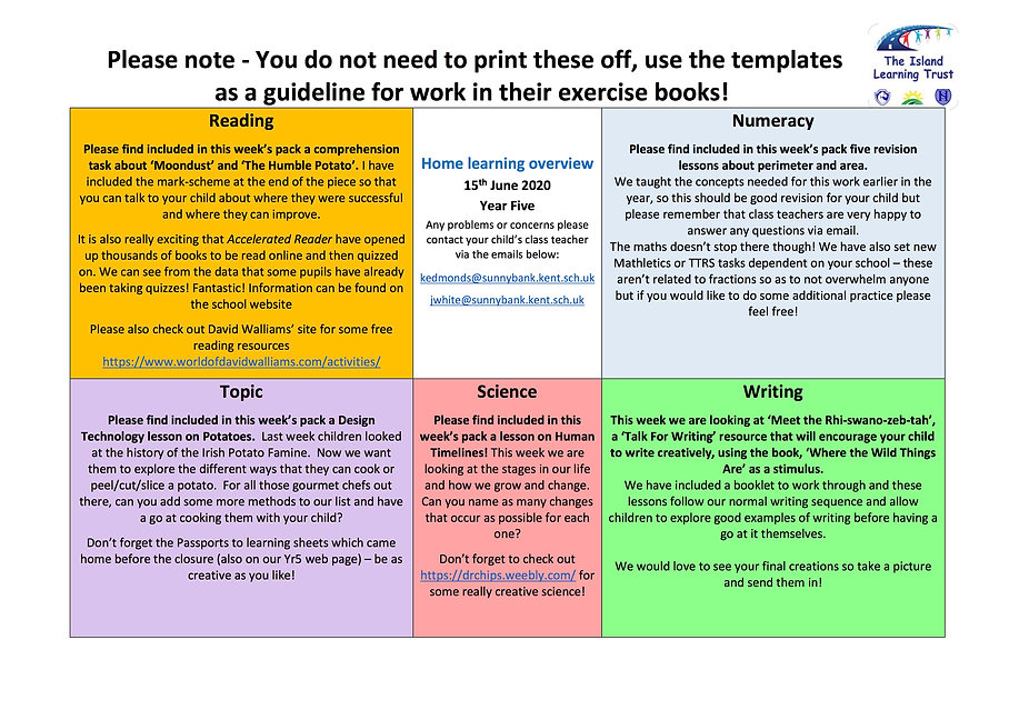 Y5 SB Overview for parents and carers.jp
