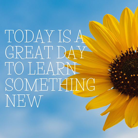 TODAY IS A GREAT DAY TO LEARN SOMETHING