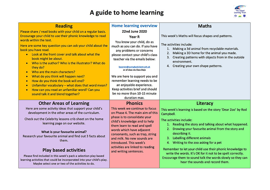 RECEPTION Home Learning pack 22.6.2020.j