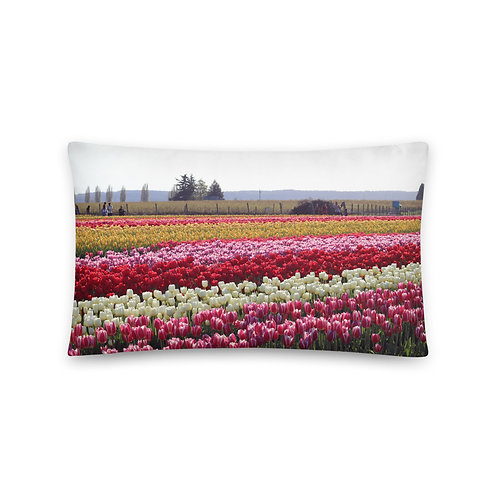 Basic Tulip Field  Pillow
