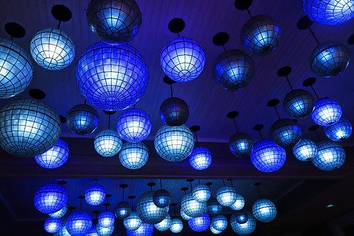 Blue Disco Balls