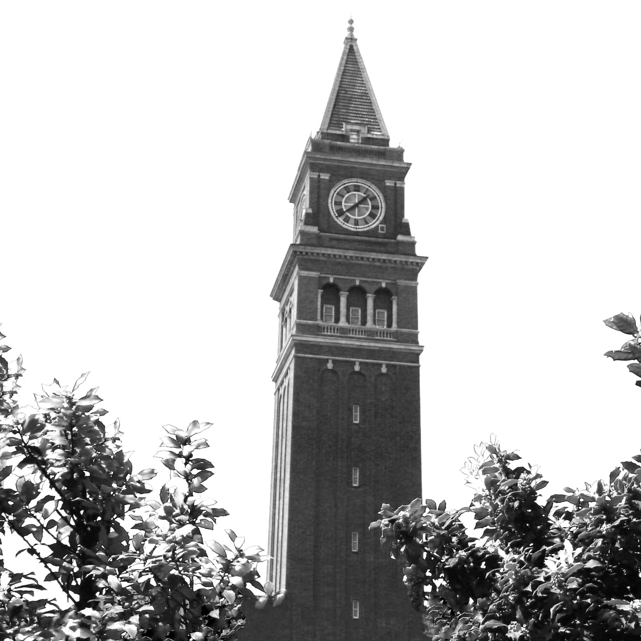 King Station Clock B&W