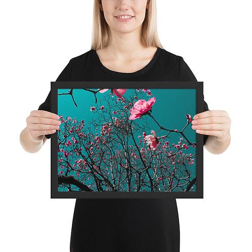 Framed Magnolia matte paper poster
