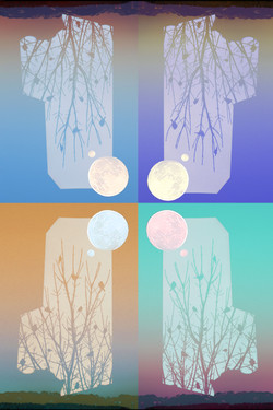 Two Moons Pop Art