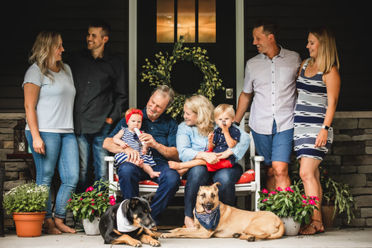 Wisconsin Porch Family Photo