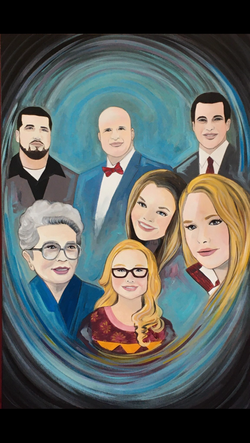 Blended Family Portrait