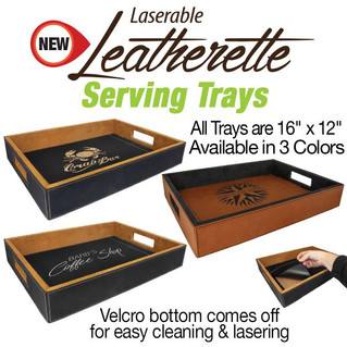 Leatherette Serving Trays