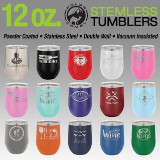 12 oz. Stemless Wine Tumblers