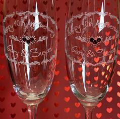 Engraved Sparkling Wine Flutes