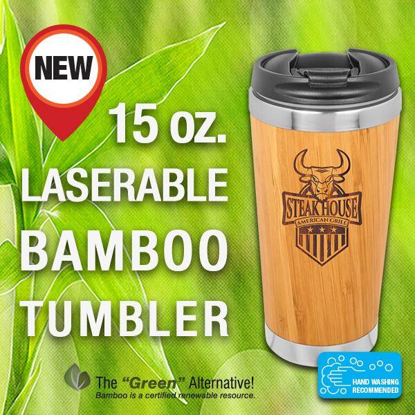 15 oz. Bamboo Tumbler