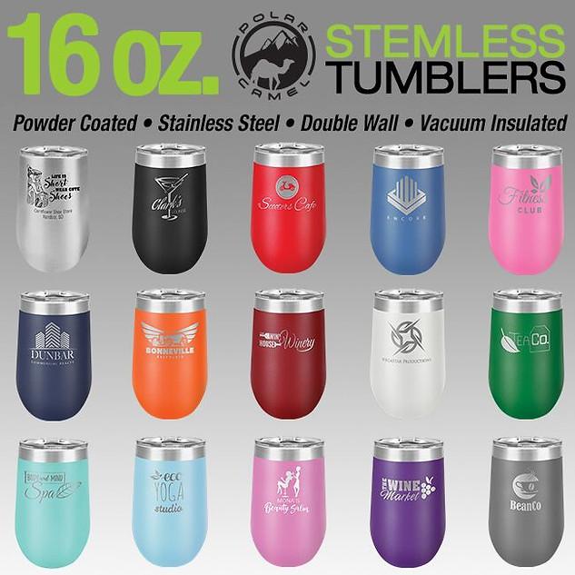 16 oz. Stemless Tumblers