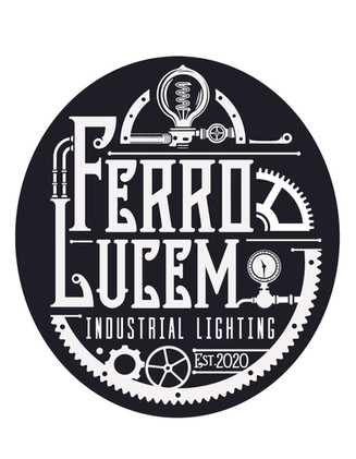 Logo study for an Industrial Light company. They wanted an Illustrative, Steampunk influenced design. In stark Black and white.