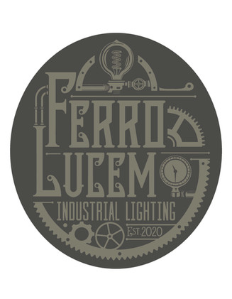 Color option for the Industrial lighting logo.