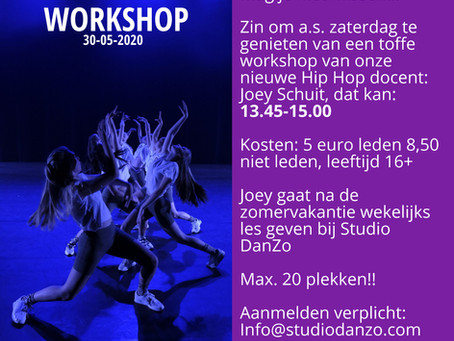 Hiphop workshop Joey Schuit