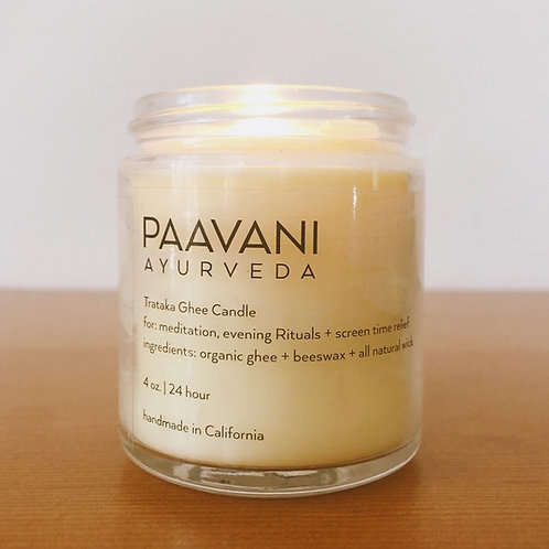 Trataka Ghee + Beeswax Puja Candle