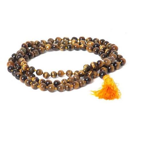 Tiger Eye Japa Mala Necklace - 108 Beads