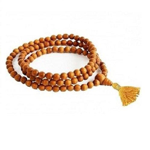 Sandalwood Japa Mala Necklace - 108 Beads