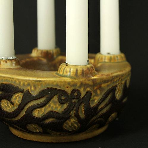 Marianne Starck, Michael Andersen, Denmark. Stoneware Candlestick Holder